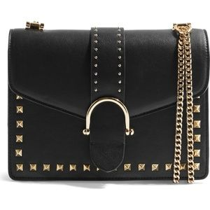 TOPSHOP BETH STUDDED SHOULDER BAG